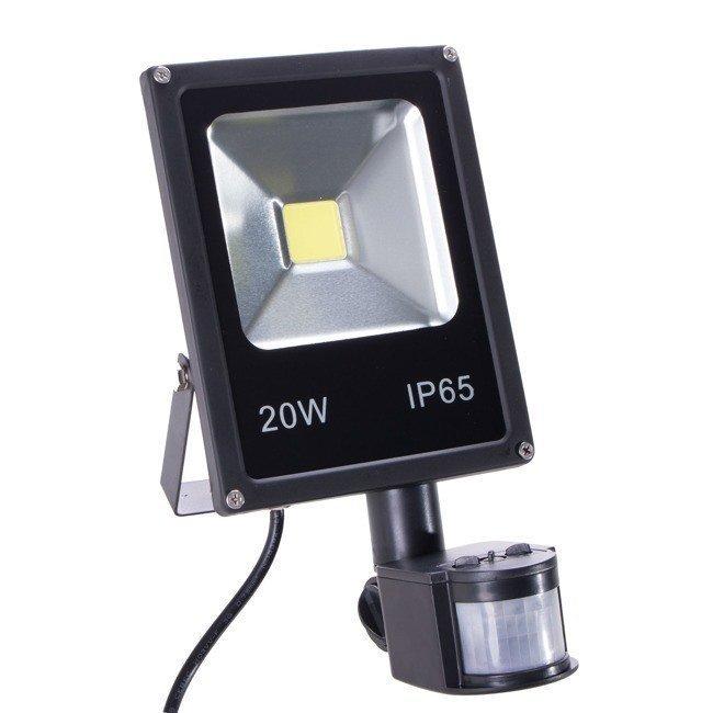 Halogen Lampa Naświetlacz Led Z Czujnikiem Ruchu 20w Dom I