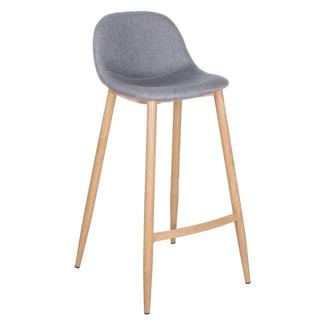 Zestaw 4 X Krzesło Barowe Tapicerowane Springos Retro Design