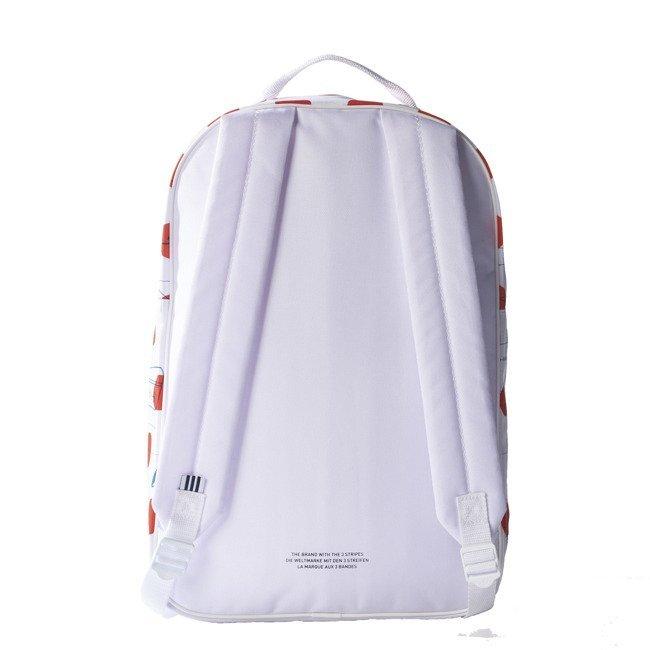 dla całej rodziny ograniczona guantity gorąca sprzedaż online Plecak szkolny Adidas ORIGINALS BQ1476 BIAŁO-CZERWONY ...